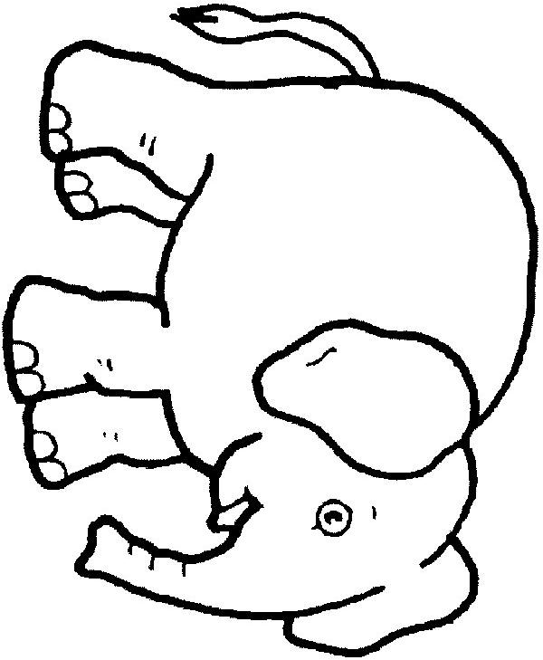Desenho 9 De Elefantes Para Colorir