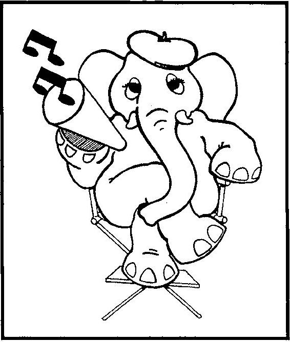 Desenho 10 De Elefantes Para Colorir