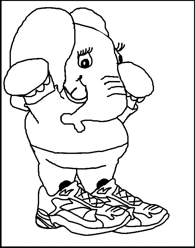 인쇄하고 색칠 할 코끼리 19 마리 그리기