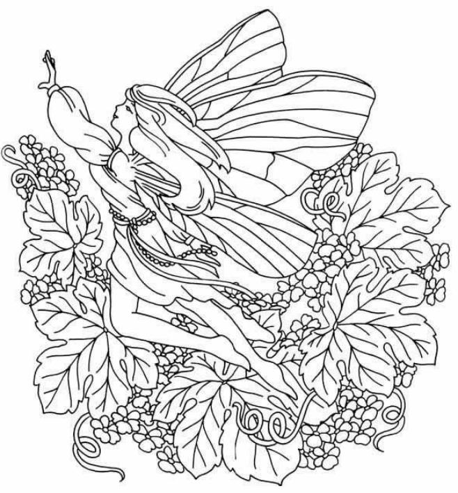 Disegno 6 di fatine da stampare e colorare