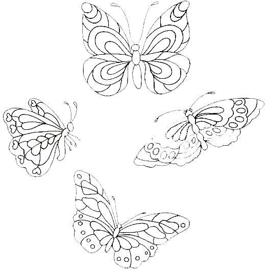 Disegno 10 di farfalle da stampare e colorare