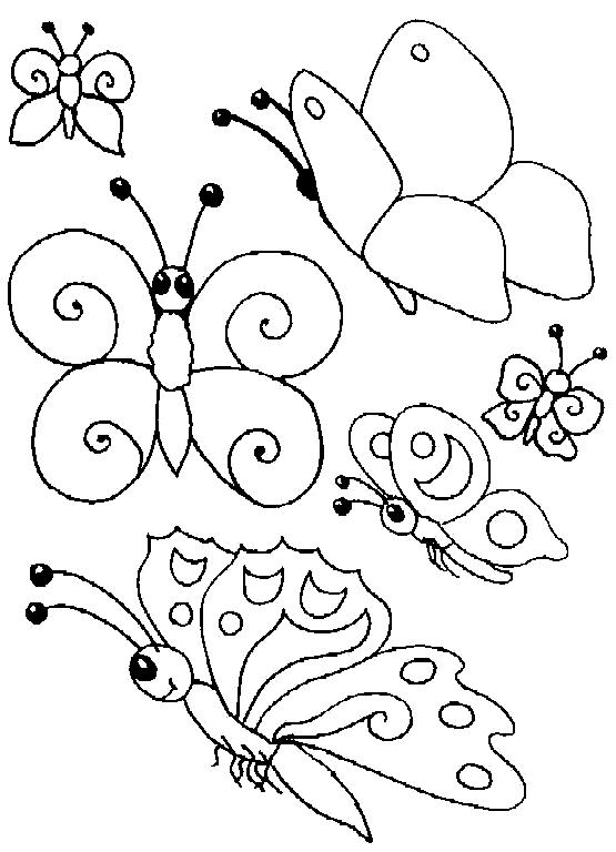 Disegno 11 di farfalle da stampare e colorare