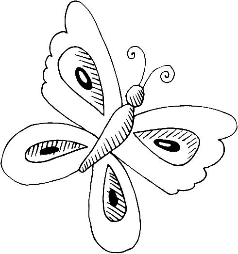 Disegno 16 di farfalle da stampare e colorare