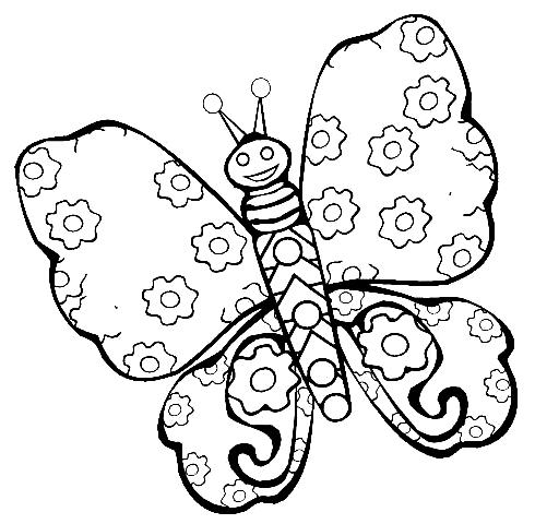 Disegno 20 di farfalle da stampare e colorare
