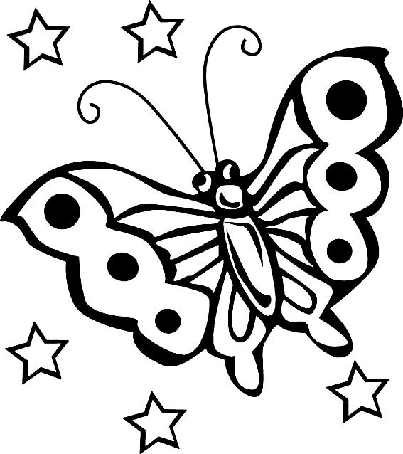 Disegno 21 di farfalle da stampare e colorare