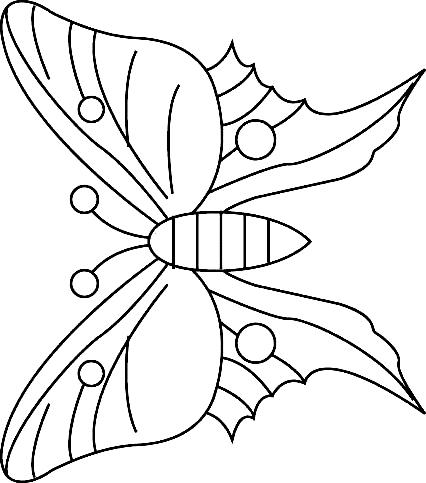 Disegno 23 di farfalle da stampare e colorare