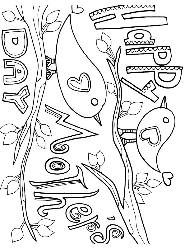 Desenho 3 Do Dia Das Maes Para Colorir