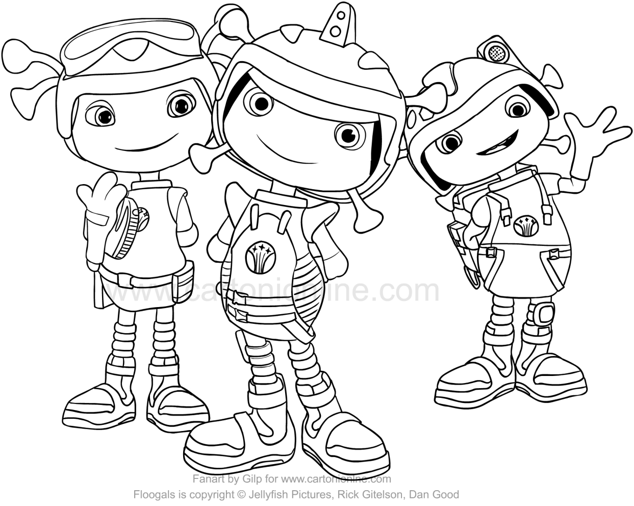 This is an image of Epic floogals coloring pages