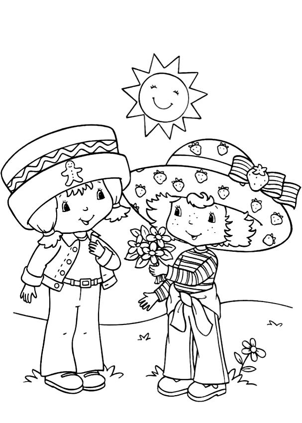 Disegno di Zenzerella e Fragolina Dolcecuore da stampare e colorare