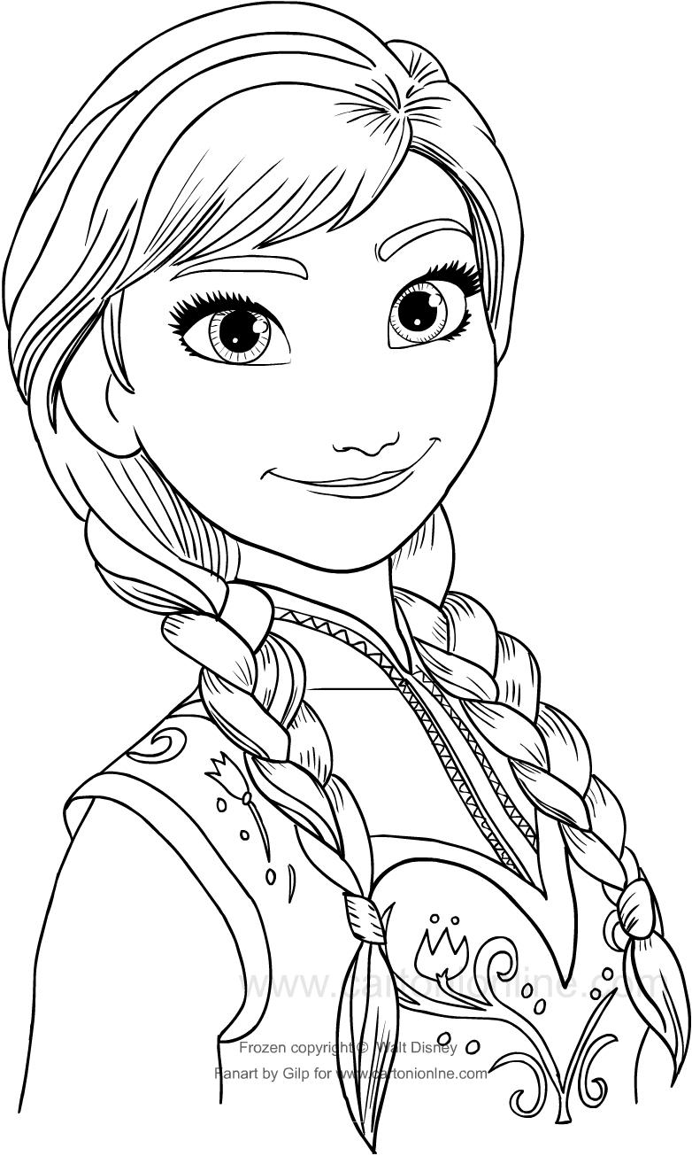 Disegno Di Anna Frozen Da Colorare