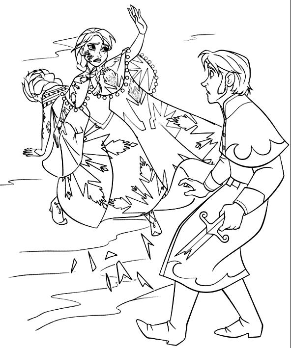 アンナのぬり絵がエルザの命をハンスから救う(冷凍)