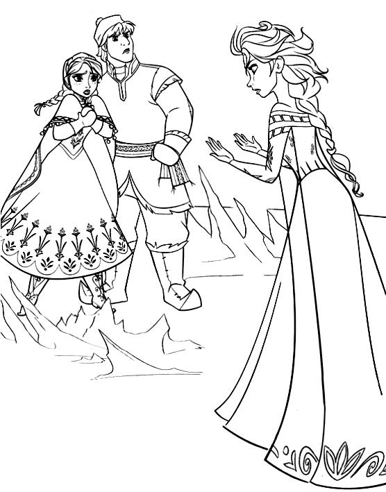 Disegno Da Colorare Di Elsa Anna E Kristoff Frozen