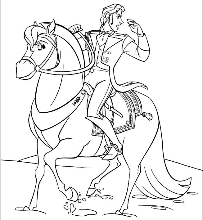 Disegno Da Colorare Di Hans A Cavallo (Frozen