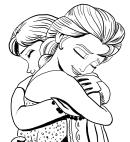 アンナとエルザの絵-冷凍