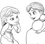 アンナとエルザの絵-凍った少女