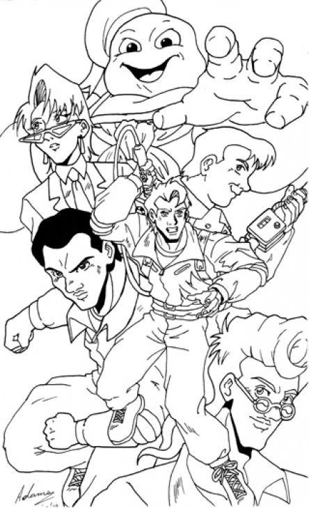 Suunnittelu 8 from Ghostbusters värityskuvat tulostaa ja värittää