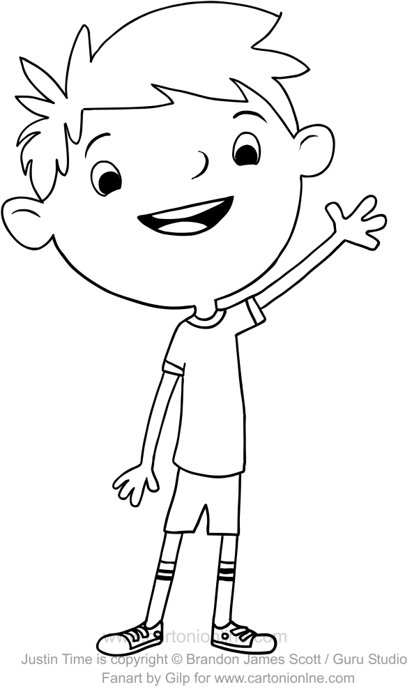 Squidgy Justin Time Coloring Page Coloring Pages