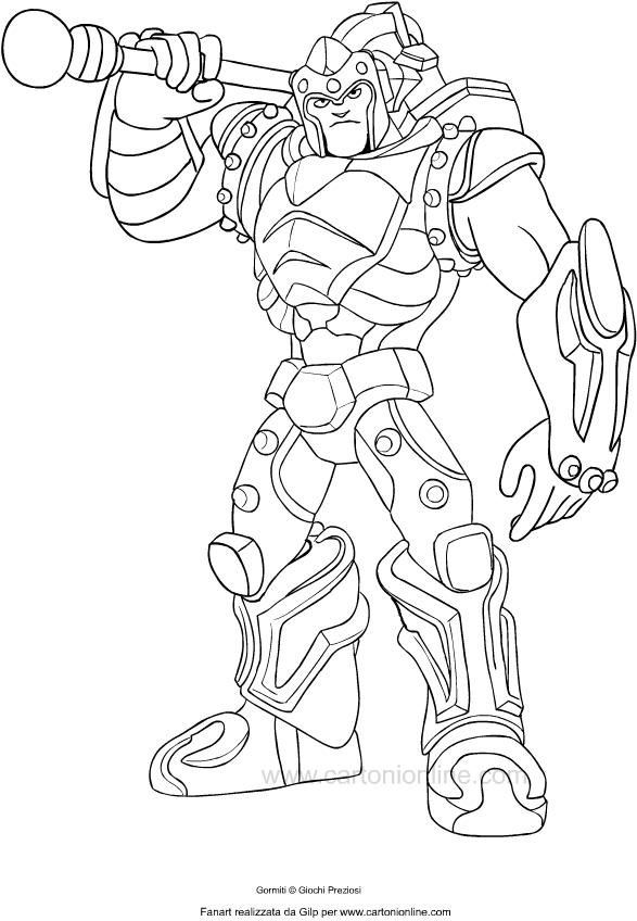 Lord Titan of Gormiti kleurplaat om af te drukken en te kleuren