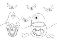 Página para colorear de Halloween para niños
