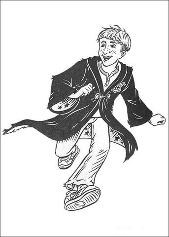 Harry Potter Da Colorare Per Bambini