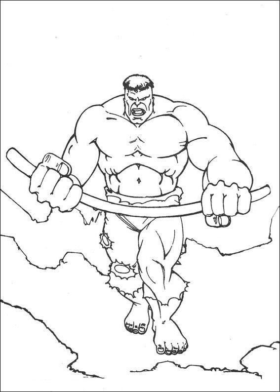 Kolorowanki 10 Hulk