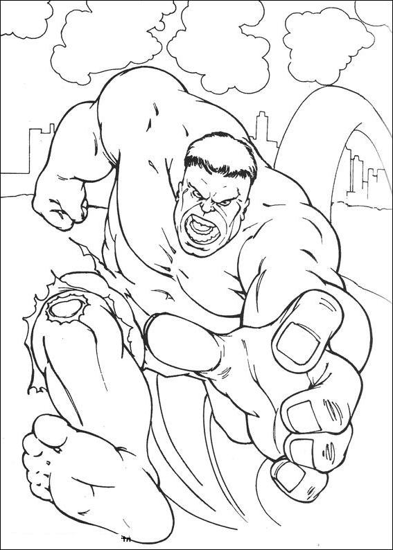 Desenho 16 De Hulk Para Colorir