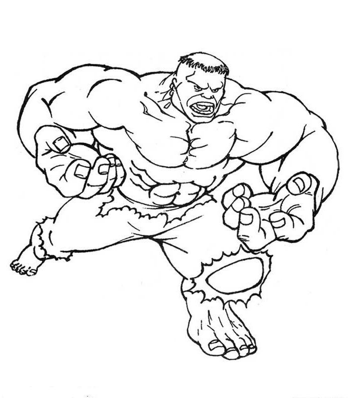 Disegno 23 Di Hulk Da Colorare