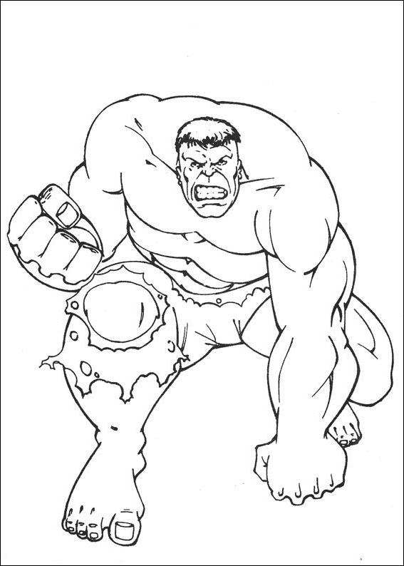 Coloriage 24 De Hulk