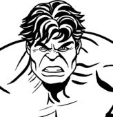Desenhos de Hulk para colorir