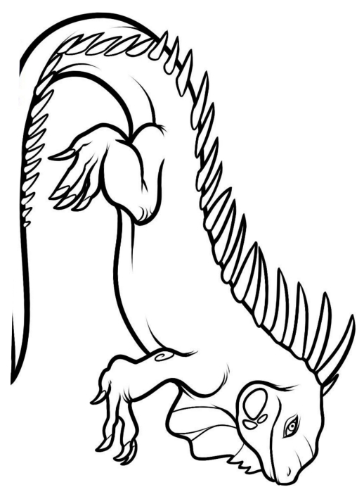 Disegno 24 di iguane da stampare e colorare