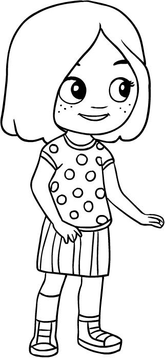 Dibujo de Chelsea, la mejor amiga de Nina para colorear y imprimir