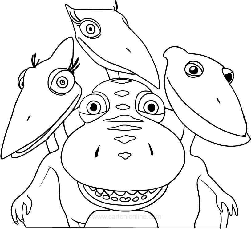Disegno De Il Treno Dei Dinosauri Da Colorare