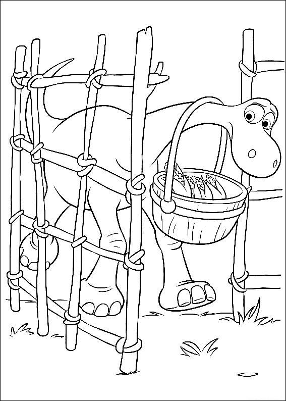 Disegno di Arlo che entra dentro il recinto di granturco da stampare e colorare