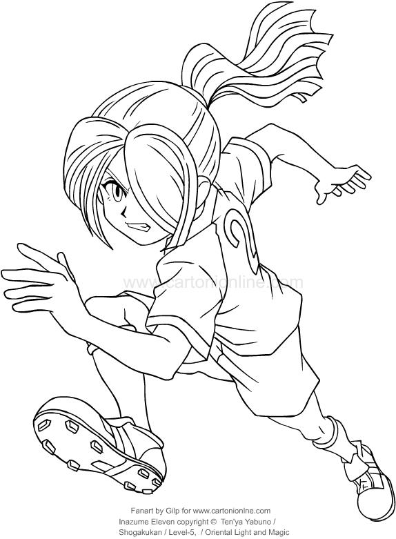 disegno di nathan swift di inazuma eleven da colorare