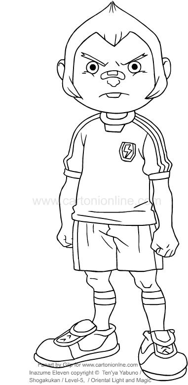 Dibujo de Tod Ironside de Inazuma Eleven para imprimir y colorear