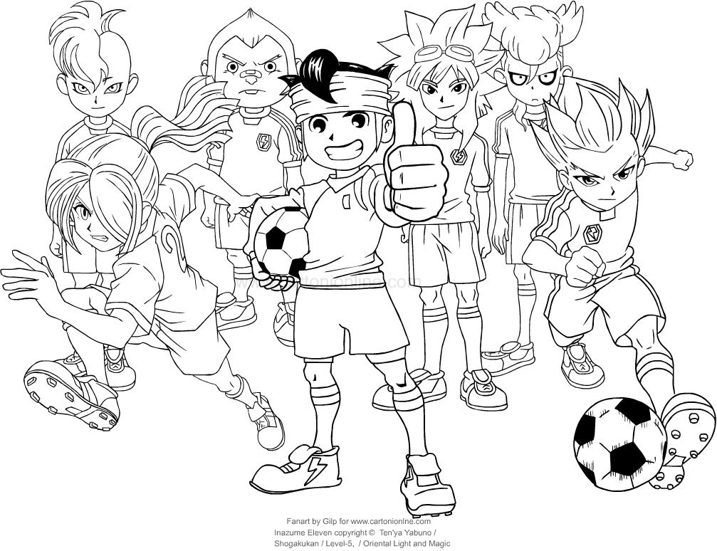 Página para colorear de Inazuma Eleven para imprimir y colorear