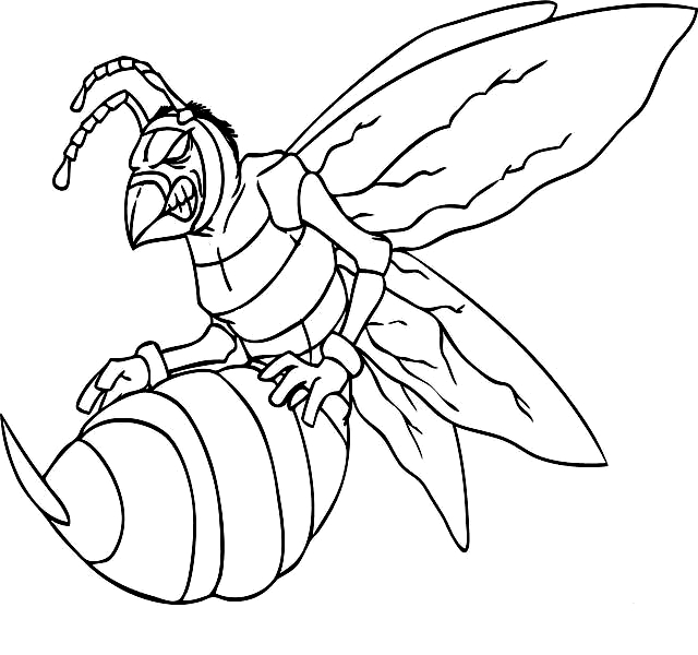 Disegno 12 di insetti da stampare e colorare