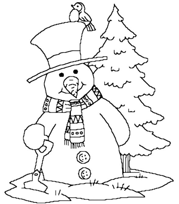 Talvi värityskuvat tulostaa ja värittää - Suunnittelu 1