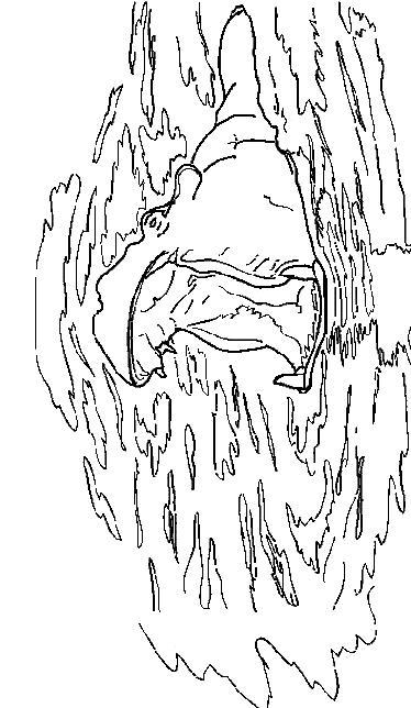 Disegno 3 di ippopotami da stampare e colorare