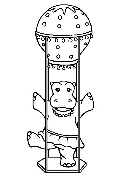 Disegno 8 di ippopotami da stampare e colorare