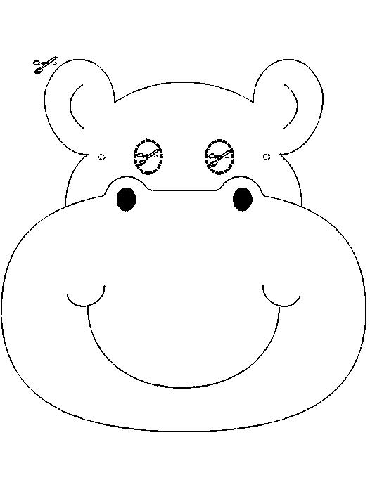 Disegno 14 di ippopotami da stampare e colorare