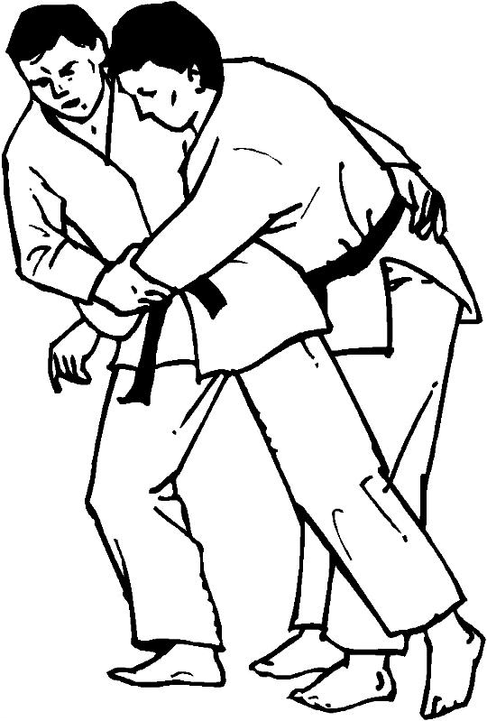 Desenho 6 de judo para imprimir e colorir