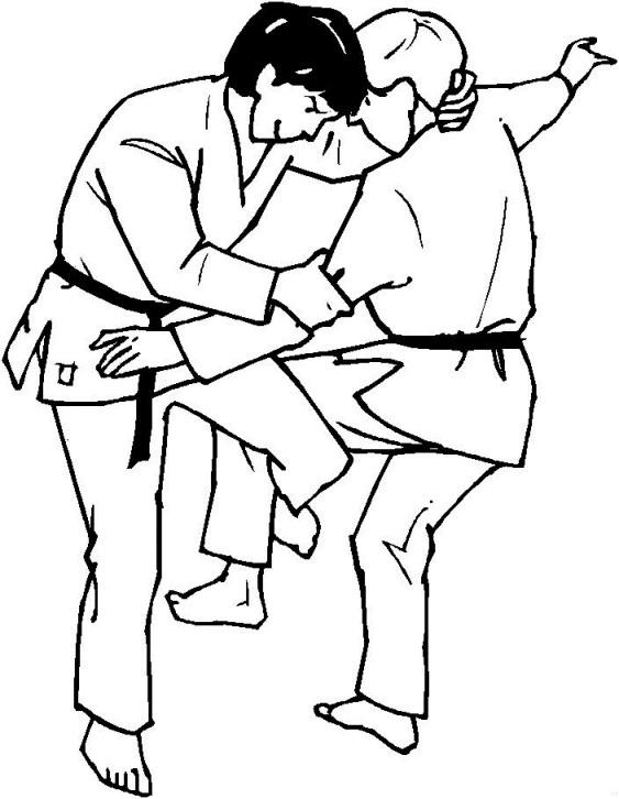 Desenho 10 de judo para imprimir e colorir
