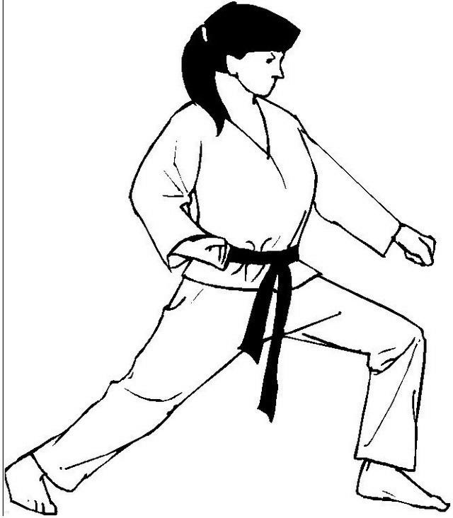 Desenho 24 de judo para imprimir e colorir