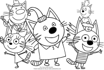 Disegni Di Kid E Cats Da Colorare