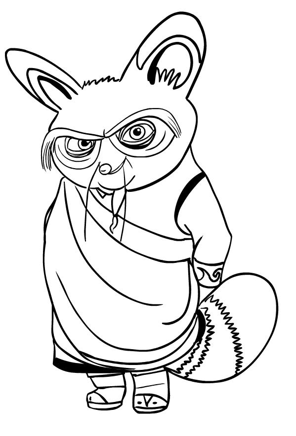 Disegno Del Maestro Shifu Di Kung Fu Panda Da Colorare
