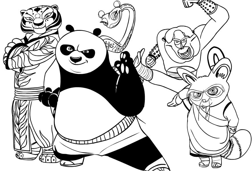 Disegno Di Kung Fu Panda Da Colorare
