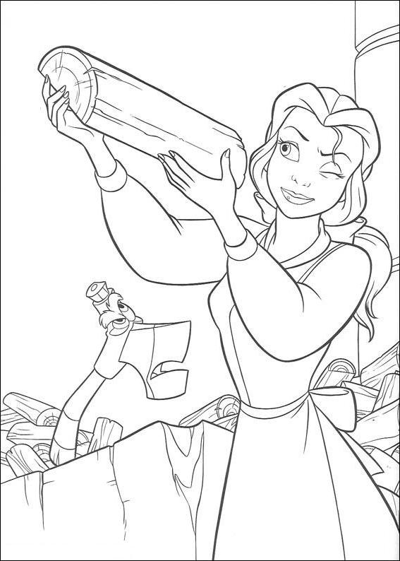 Coloriage 15 de La Belle et la Bête à imprimer et colorier