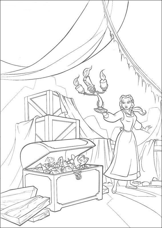 Coloriage 17 de La Belle et la Bête à imprimer et colorier
