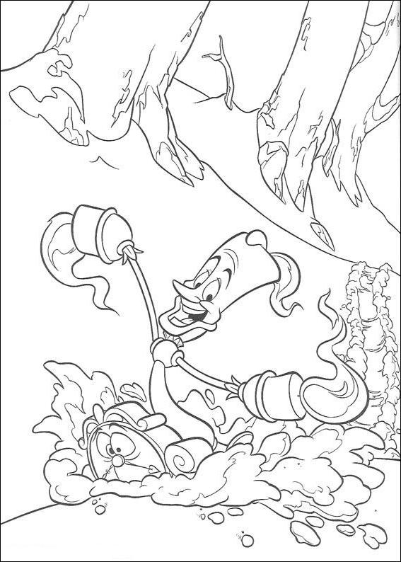Coloriage 18 de La Belle et la Bête à imprimer et colorier